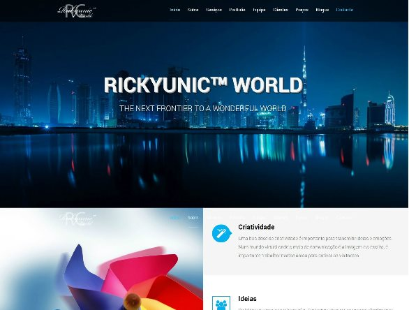 website corporativo rickyunic world